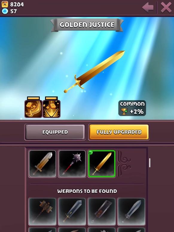 Blades of Brim Golden Justice Weapon