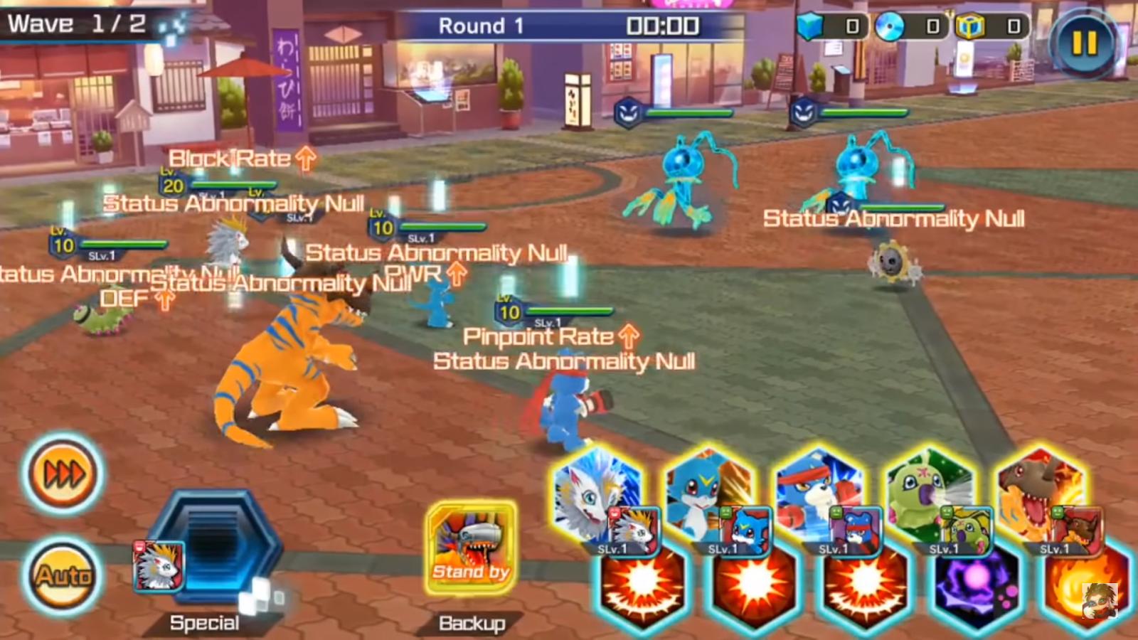 Digimon Re-arise gameplay