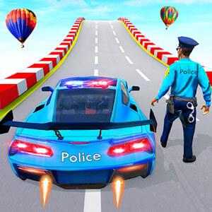 Police Car Ramp Stunts Race 3D